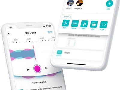 Voice recording App clean app app design ui design ui  ux design ux design voice record ux  ui ux