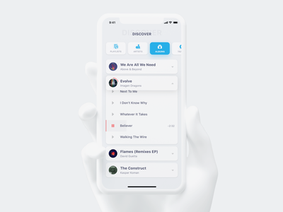 Music Player blue and white blue white clean app design clean app music music album music app uidesign ux  ui ux