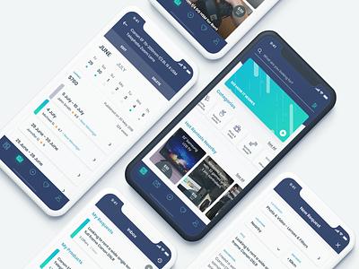 Rental Market App green blue calendar vector typography clean design iphone app ux ios ui