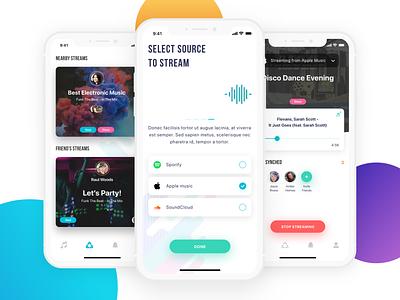 Stream music app iphone music app music ux design ui deisgn ui  ux design ux ui  ux clean app design clean  creative clean app clean