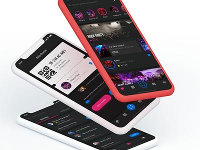Event App 1/2 dark theme dark app design iphone ios app ux ui