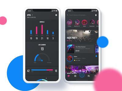 Event App 2/2 darktheme dark app black event design iphone ios app ux ui
