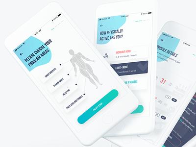 Fitness App workout sport fitness vector clean app clean design ios ux app ui