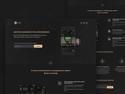 Landing Page 2019 black design iphone ios ux ui app landing design landing page lp