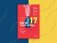 End of Year Social Poster