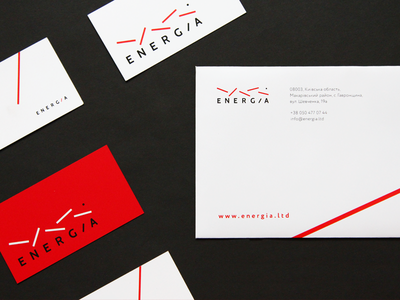 Energia identity dot style japan design logotype logo line white red identity business card design evernote business card art