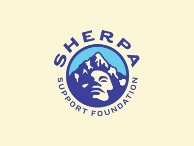 Sherpa Support Foundation Logo nonprofit mountain face icon