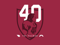 Pat Tillman illustration freedom sports united states of america war special operations infantry football patch logo ranger battalion arizona cardinals nfl military memorial day