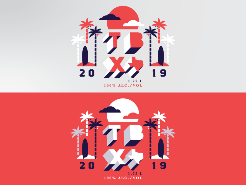 Summer Tshirt Design outing company event beer alcohol palm trees surf board summer design tshirt dallas texas