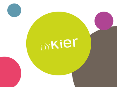 Logo for byKier logo circle circles bubbles