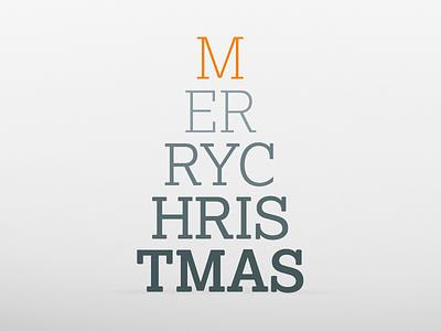 Merry Christmas christmas tree typography xmas triangle star