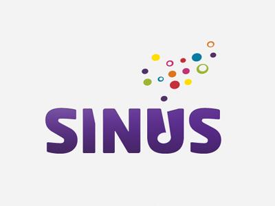 Logo for Sinus logo music network negative space braille