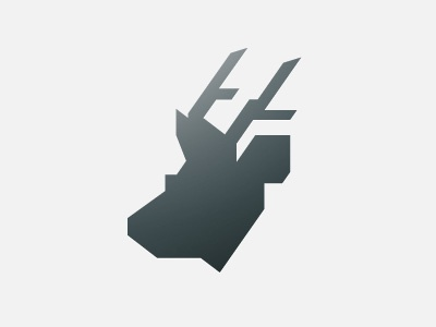 The Silk Deer logo animal simple