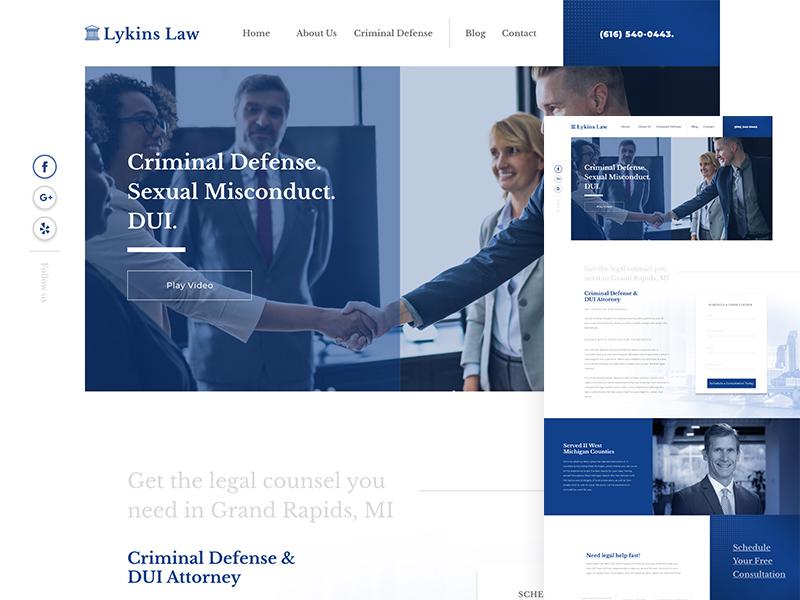 Law Firm Design webdesign ux typography web ui uidesign ui  ux website design web design website