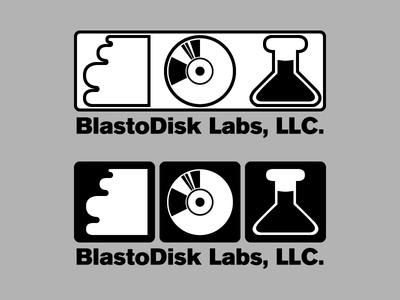 Blastodisk Labs logo / Explorations A branding gaming science retro icon logo