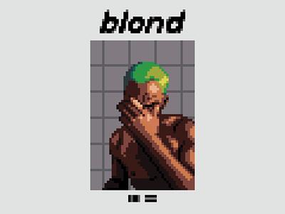 Frank Ocean - Blonde / blond icon character illustration 80s 90s 8 bit 16 bit pixel art