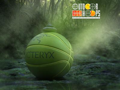 Outdoor Hoopa A / Arc'Teryx branding logo environment jungle arcteryx hiking outdoors basketball 3d