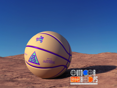 Outdoor Hoops B / Nike ACG outdoors basketball acg nike desert environment logo branding 3d