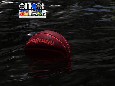 Outdoor Hoops C / Patagonia branding logo patagonia outdoors basketball water environment 3d