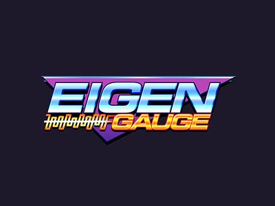 EigenGauge Logo vector gaming logo ios sci fi racing chrome neon 80s 90s retro branding logo game gaming