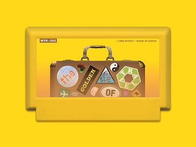 My Famicase 2021 – The Golden Age Of Travel famicom nintendo vector branding logo design retro illustration 8 bit