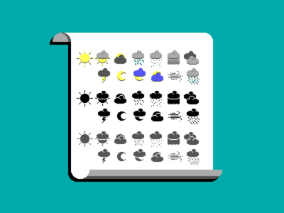 8-bit Weather / Icons