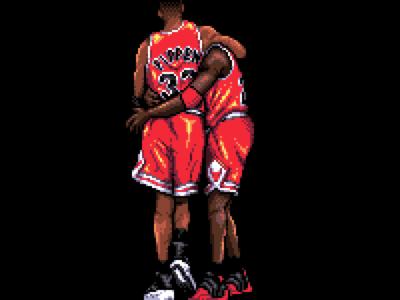 Michael Jordan I / with Scottie Pippen