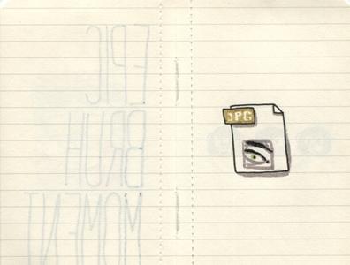 Pocket Moleskine C jpeg jpg eye icon windows 95 ink sketch drawing moleskine sketchbook
