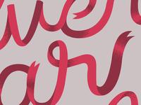 Ribbon lettering