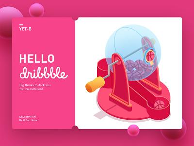 Hello dribbble debut shot first shot illustration hobbit debuts