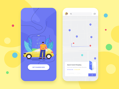 Charging app app design charger 插画 shot illustration