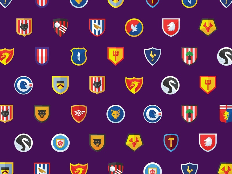 My4 Football Club Badges my4 crest badges icon app fifa football design vector illustration artwork