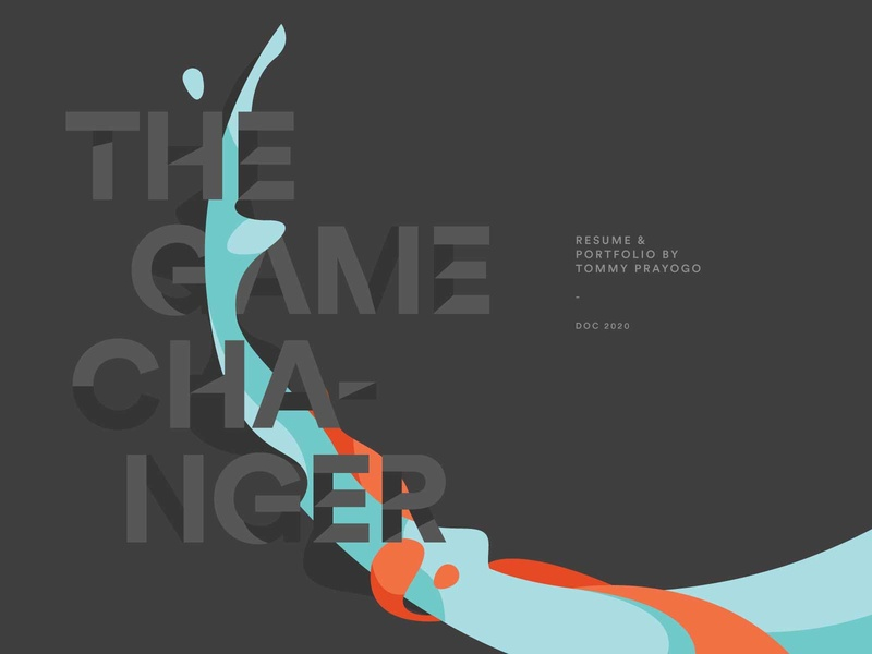 The Game Changer visual cover personal portfolio cv branding design vector illustration artwork
