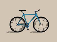 """""""Go"""" illustration for the Atlanta Beltline speed illustration line art bicycle bike"""