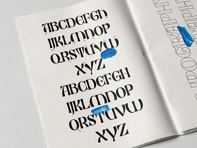 ED Black Orchid illustration hand lettering graphic design logo elegant font branding minimalist lettering typography