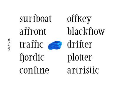 ED Candytuft Ligature branding simple hand lettering graphic design elegant font minimalist lettering typography
