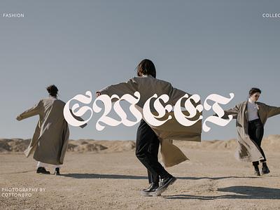 SWEET illustration design elegant logo font branding minimalist lettering typography