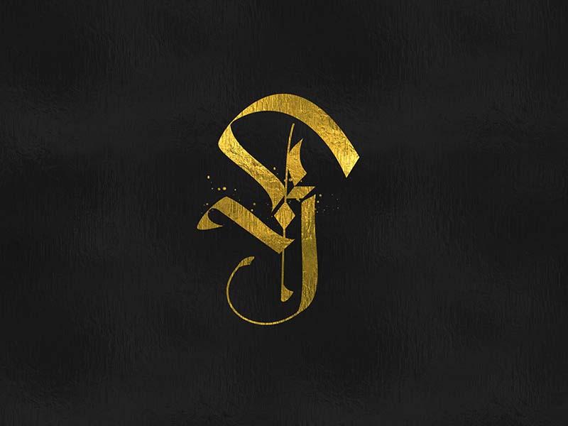 K monogram logo gothic lettering logo monogram