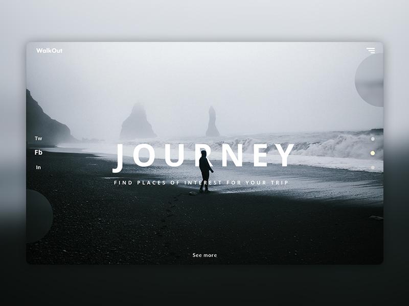 WalkOut page graphic design illustrator typography web design uiux