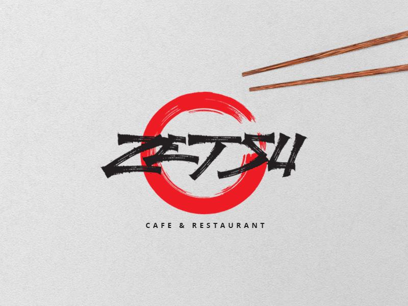 Zetsu japanese sushi elegant handdraw lettering logo typography font