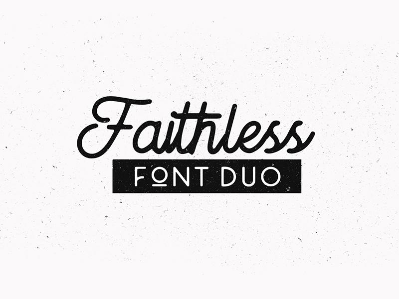 Faithless font duo minimalist feminim elegant handdraw lettering logo typography font