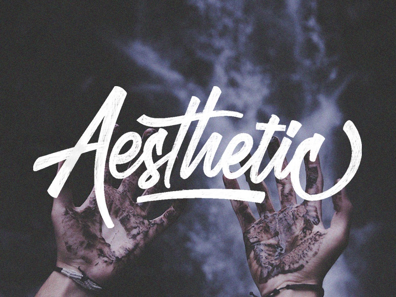 Aesthetic font illistration drawing hand lettering lettering logo typography