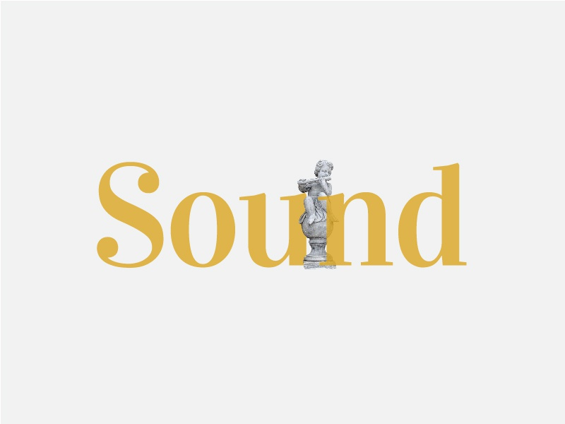 Sound Typography font type minimalist lettering ui illustration logo typography