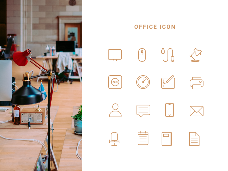 office icon branding minimalist ux ui uidesign illustation icon