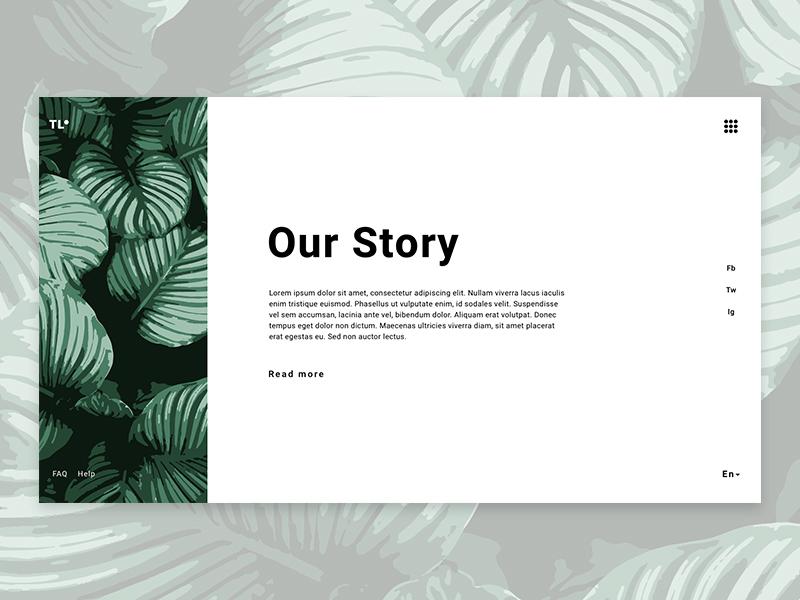 Our Story Page app web icon elegant design ux web design illustration minimalist ui