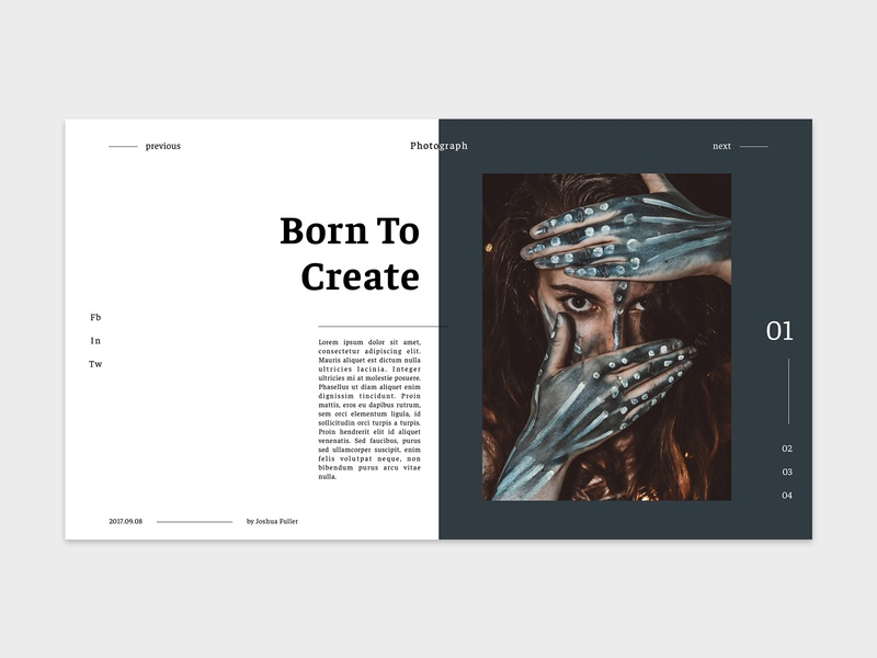 Photograph ui deisgn ui  ux ux branding web design typography minimalist ui