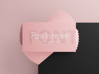 Reschensee classic spedball font lettering simple ui hand lettering graphic design vector design illustration font branding elegant typography minimalist
