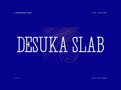 Desuka Slab font simple illustration graphic design minimalist lettering logo branding elegant font typography