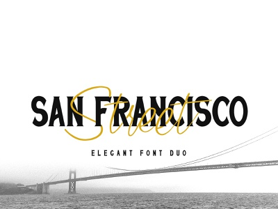 San Francisco Street Font Duo lettering font branding logo minimalist typography