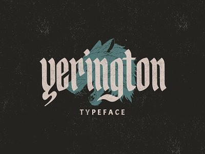 Yerington Typeface illustration graphic design hand lettering elegant font branding minimalist logo lettering typography